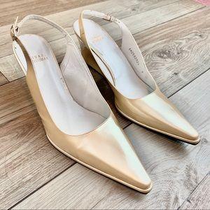 Stuart Weitzman | Gold Heels | Size 9